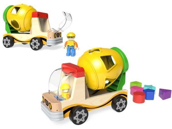 Brimarex, betoniarka z sorterem i klockami, zabawka edukacyjna