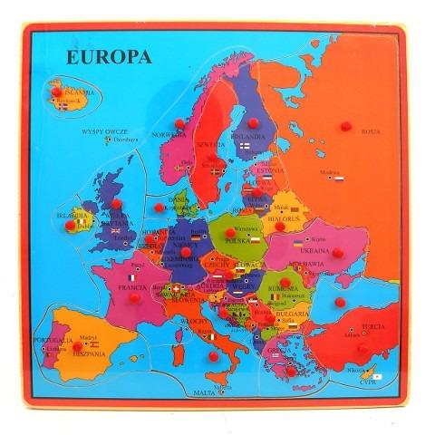 Brimarex, drewniana Mapa Europy