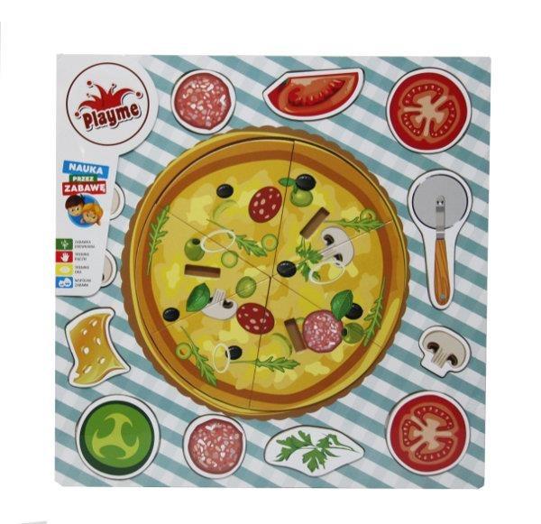 Brimarex, Pizza, układanka drewniana, 20 elementów