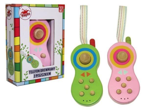 Brimarex, telefon drewniany z dźwiękiem