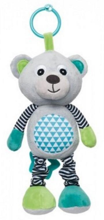 Canpol Babies, Bears, pluszowa zabawka z pozytywką, szara