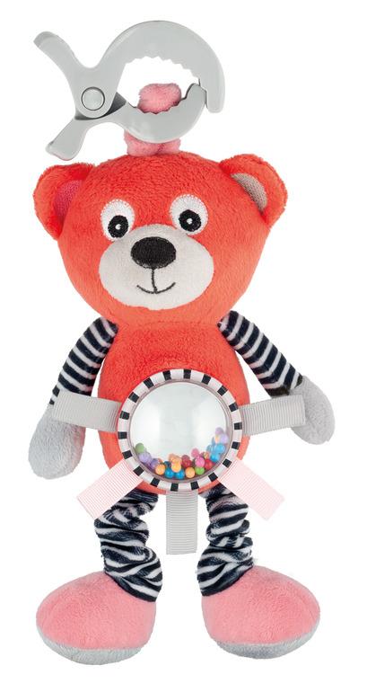 Canpol babies, Bears, pluszowa zabawka z wibracją i grzechotką, koralowa
