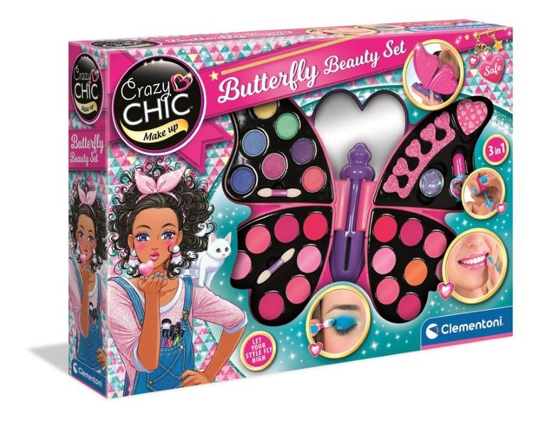 Clementoni, Crazy Chic, Motyl, zestaw kosmetyków