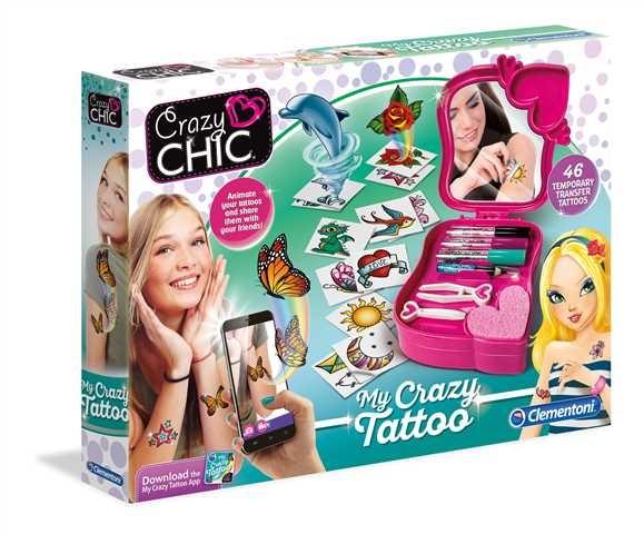Clementoni, Crazy Chic, zestaw tatuaży