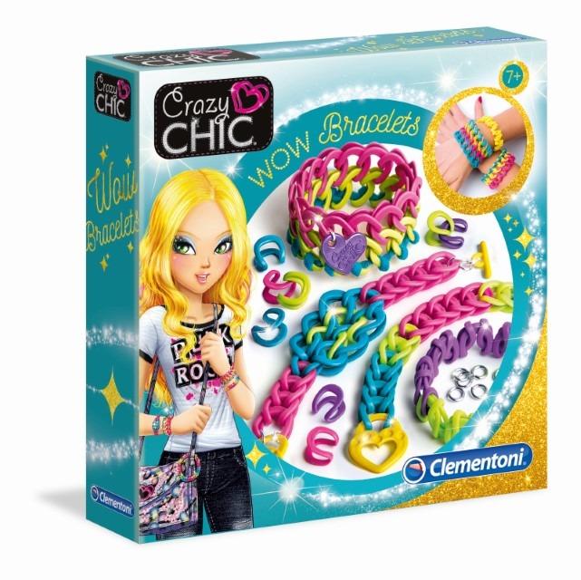 Clementoni, Crazy wow, bransoletki, zabawka kreatywna