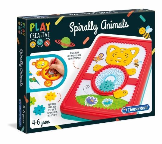 Clementoni, Spiralne zwierzaki, zabawka kreatywna