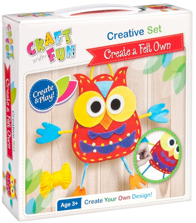 Craft with Fun, zestaw kreatywny sowa