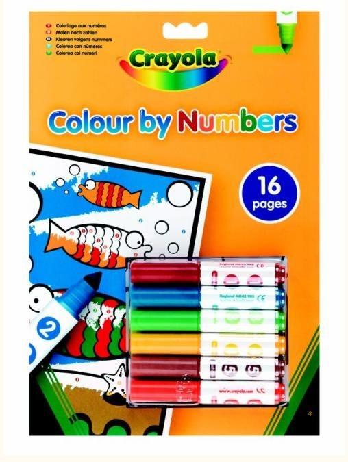 Crayola, zestaw kreatywny, malowanie według numerów