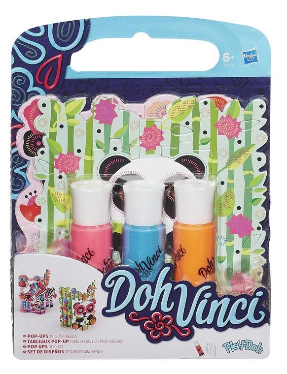 DohVinci, masa plastyczna, mini zestaw do dekoracji, 3 kolory