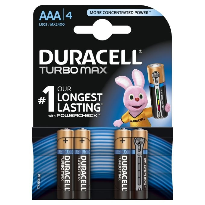 Duracell, Turbo Max, baterie alkaliczne AAA/LR03 1,5V