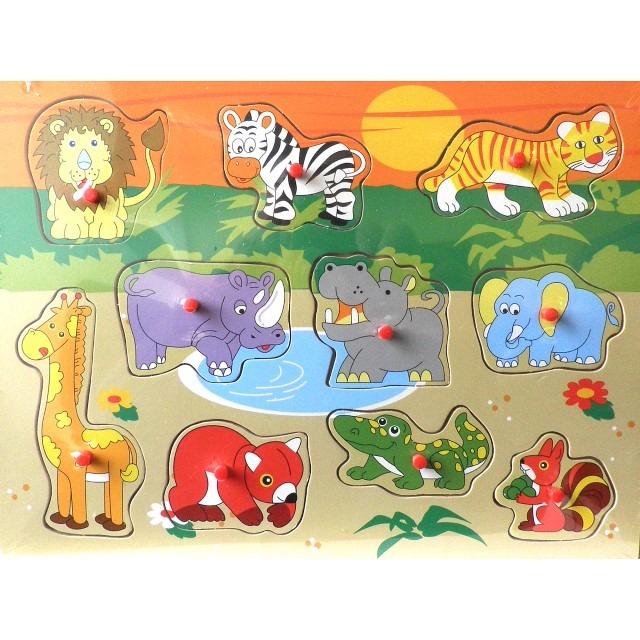 Anek Dla Dzieci, Dzikie zwierzęta, układanka drewniana