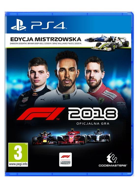 F1 2018 Edycja Mistrzowska, PS4