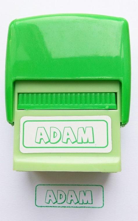 Jawi, Pieczątka imienna, Adam