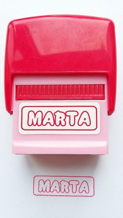 Jawi, Pieczątka imienna, Marta