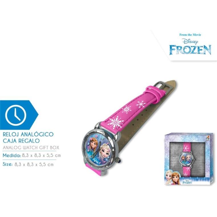 Kraina Lodu, zegarek na rękę w pudełku prezentowym, różowy