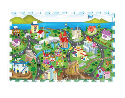 Anek Dla Dzieci, Miasto, puzzle piankowe