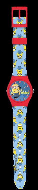 Minionki, zegarek analogowy na rękę w pudełku