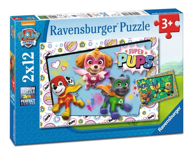 Psi Patrol, puzzle, 2x12 elementów
