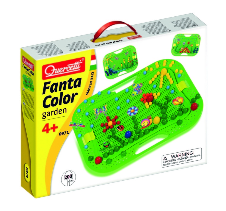 Quercetti, Zestaw kreatywny, Mozaika Fantacolor, Ogród, 200 elementów, Ø-Mix