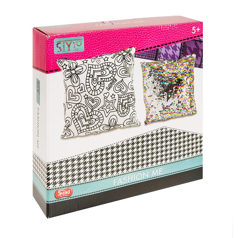 Smiki, Fashion Me, poduszka do kolorowania, cekiny, zestaw kreatywny