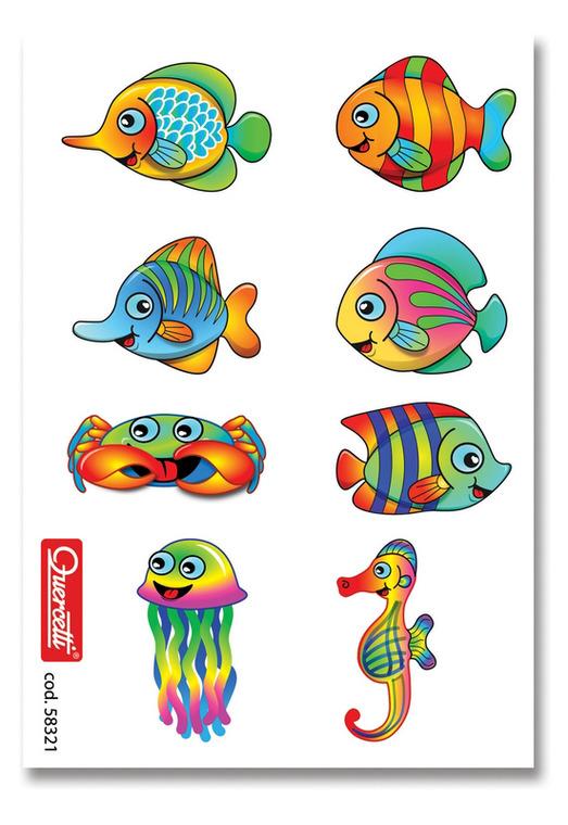 Quercetti, Zestaw kreatywny, Mozaika Fantacolor, Akwarium, 200 elementów Ø-Mix