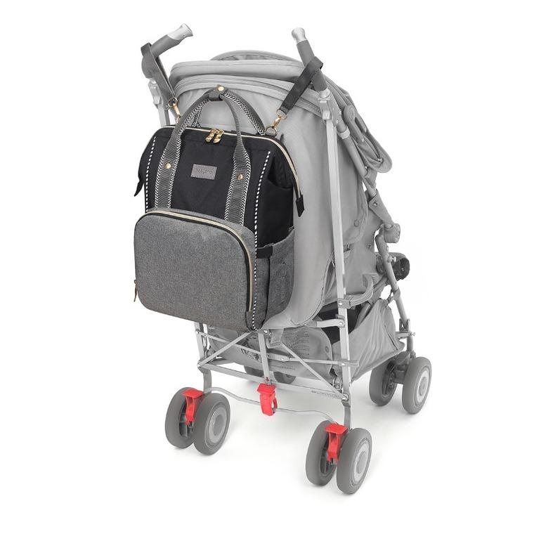 Babyono, Oslo Style, plecak do wózka, szary