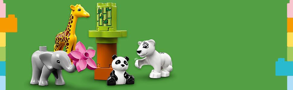 W zestawie 4 figurki zwierząt DUPLO®