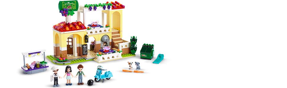 Realistyczny budynek restauracji dla dzieci