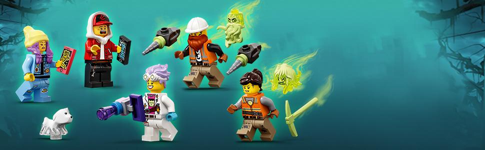 W zestawie minifigurki bohaterów: Parker i Jack