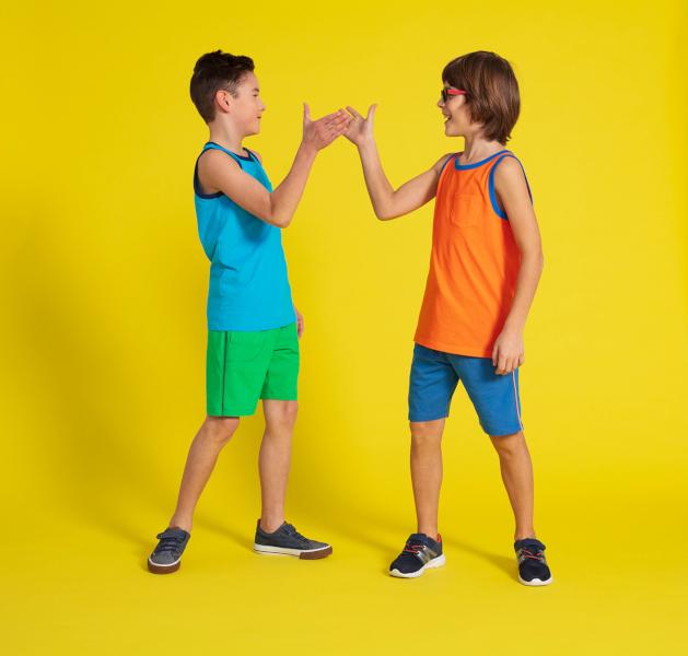 koszulki i spodenki chłopięce