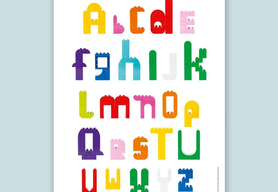 Zabawy z klockami LEGO DUPLO literki