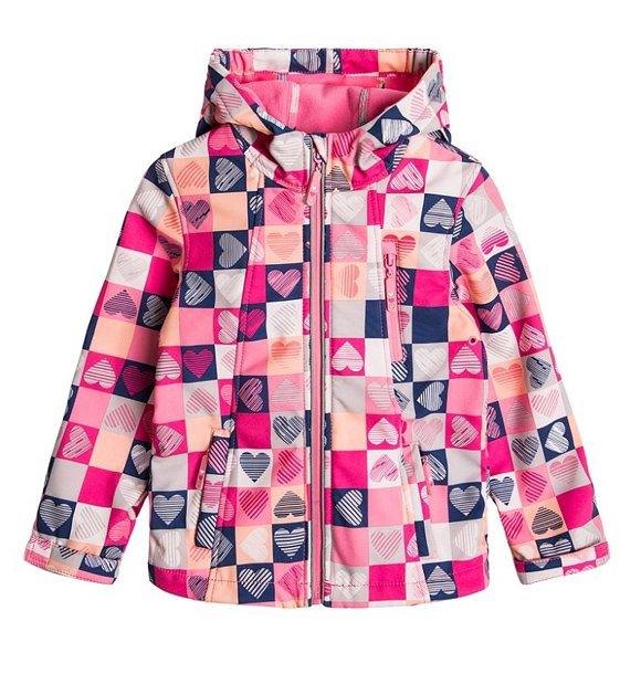 Cool Club, Softshell dziewczęcy, różowy, serca