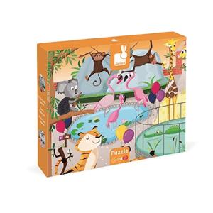 Janod, Wycieczka do zoo, puzzle sensoryczne, 20 elementów