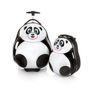 Heys, walizka na kółkach i plecak w kształcie pandy, zestaw