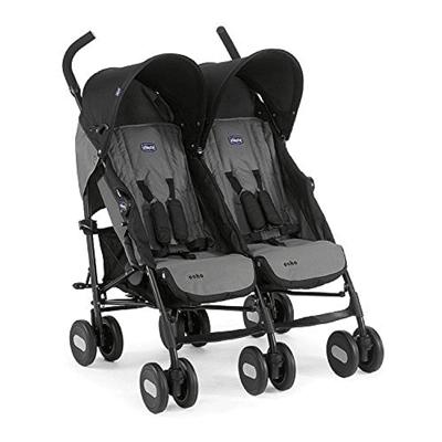 Chicco, Echo, wózek bliźniaczy, Coal
