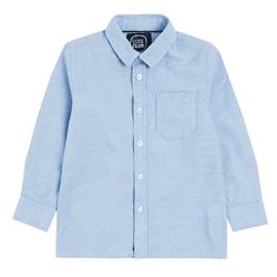 Cool Club, Koszula chłopięca z długim rękawem, bawełna oxford, niebieska