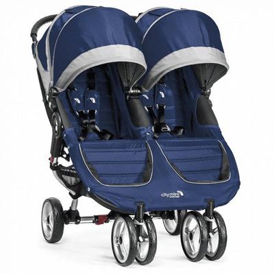 Baby Jogger, City Mini Double, wózek bliźniaczy, Cobalt-Gray