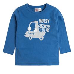 Cool Club, Bluzka chłopięca z długim rękawem, niebieska, Noisy truck