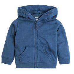 Cool Club, Bluza chłopięca z kapturem, rozpinana, ciemny niebieski
