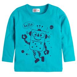 Cool Club, Bluzka chłopięca z długim rękawem, niebieska, robot
