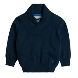 Cool Club, Sweter chłopięcy, granatowy, szalowy kołnierz