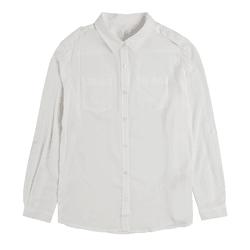 Cool Club, Koszula dziewczęca z długim rękawem, biała, pagony