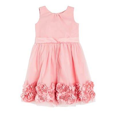 Różowa sukienka z różami
