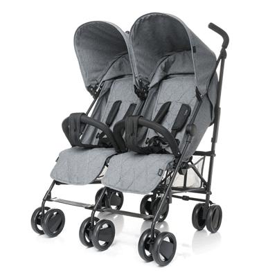 4baby, Twins, wózek bliżniaczy, szary