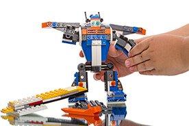 Niezwykłe konstrukcyjne klocki dla dzieci - robot, odrzutowiec, statek kosmiczny