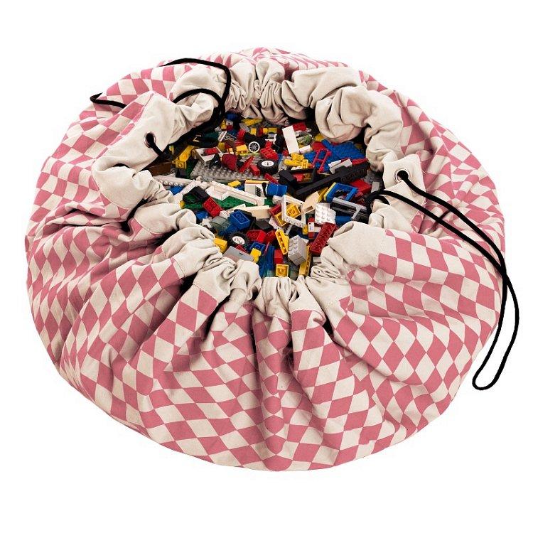 Play&Go, Romby, worek na zabawki, różowy