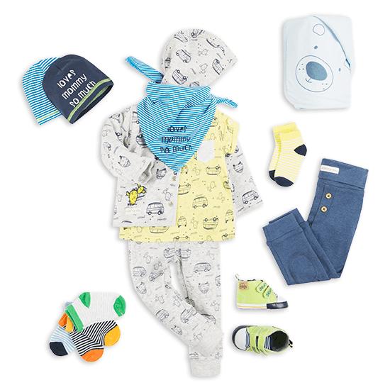 Majówka - stylizacja dla niemowlaka chłopca