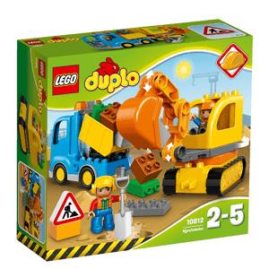 LEGO DUPLO, Ciężarówka i koparka gąsienicowa, 10812