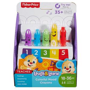 """Fisher-Price, Ucz się i śmiej, Uczące kredki """"Kolorki-Humorki"""", zabawka niemowlęca"""