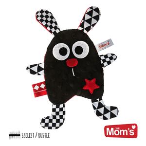 Mom's Care, szeleścik z gwiazdką, zabawka niemowlęca, czarny